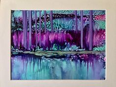 Alcohol ink art.  Original painting. by KCsCornerGallery on Etsy. Pinning this for the colors.....