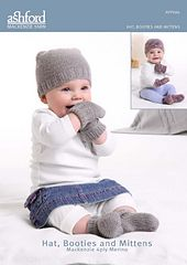 Ravelry: Ashford Hat, Booties & Mittens Mackenzie 4 Ply pattern by Ashford Wheels & Looms