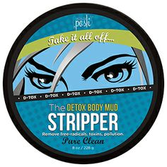 Product # ST3702  The Stripper  8 oz  The Stripper uses mud and clay to pull the free-radicals you encounter daily from your skin to get a Pure Clean.    Take it all off when you smooth this creamy vanilla mud all over. Top to bottom and back again, let this detoxifying blend help you expel harmful pollution and keep youthful, healthy skin.  www.AreYouPoshed.com