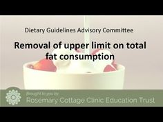 VIDEO: Harvard Scientist Supports U-Turn on Dietary Fats   Rosemary Cottage Clinic Blog