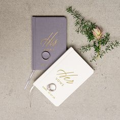His and Hers Personalized Wedding Vow Books for by DefineDesign11