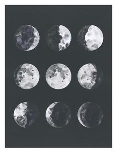 The Nest: Free printable moon phase art and pattern ...