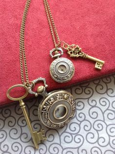 zodiac Pocket Watch necklaces - his and hers