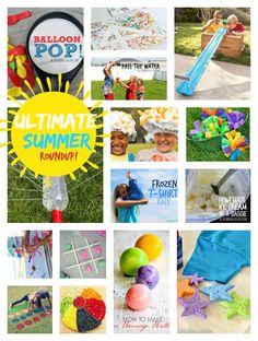 so many great ideas here! the complete roundup of kids crafts and activites for summer