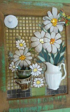 Faça você mesmo: Mosaico picassiette – o mosaico com louças e xícaras quebradas   ART DIY