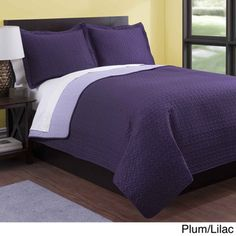 Baltic Solid Reversible 3-piece Quilt Set | Overstock.com Shopping - Great Deals on Quilts