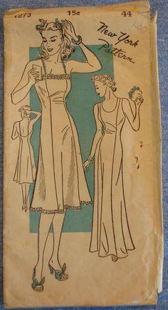 Ladies Princess Slip - New York Pattern New Underwear, Caftans, Vintage Sewing Patterns, Pattern Art, Amelia, Classic Style, Lounge, Sleep, Princess Zelda