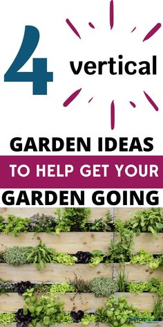 4 Vertical Garden Ideas To Help Get Your Garden Going. These four vertical garden ideas will help put your green thumb to work and give you actionable ideas to grow a garden even with limited space. #garden #space #ideas #outdoor #space #vertical #gardenideas