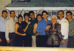 The Dudleys for Mum's first party for her 70th at our house 2000