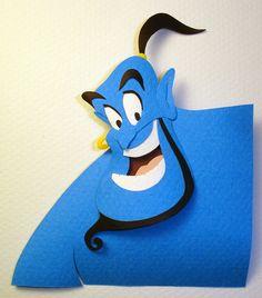 Genie Version 2 by paperfetish on DeviantArt Aladdin Art, Disney Animated Films, Paper Artwork, Paper Flower Tutorial, Character Wallpaper, Disney Addict, Disney Scrapbook, Disney Crafts, Art Studies