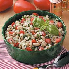 White Bean Tomato Salad Recipe -This end-of-summer favorite is light and fresh. It's ideal for using up the last of your garden's produce.—Mary Merchant, Island Pond, Vermont
