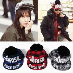 Korean Fashion Burisil Retro Small Check Hip Hop Rock Cap Snapback Baseball Hat | eBay