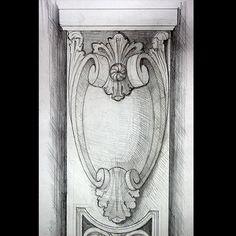 Drawing. Scale 1:1. Door #art #drawing #artist #sketch #paper #pencil #gallery #creative #graphics #door