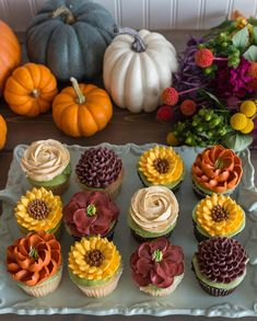 Some fall deliciousness for your Thursday? Sneak peek of our fall menu, gorgeous photos by Some fall deliciousness for your Thursday? Sneak peek of our fall menu, gorgeous photos by - Today Pin, Pretty Cakes, Beautiful Cakes, Amazing Cakes, Deco Cupcake, Cupcake Cookies, Cupcake Bakery, White Flower Cake Shoppe, Fall Cakes, Cupcakes Fall