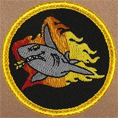 Flaming Shark Patrol Patch (#536)