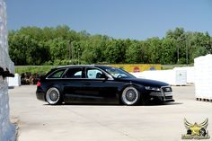 Audi B8 A4 Avant on BBS's with air ride