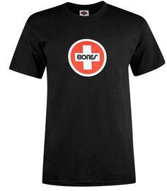 Bones-Bearings Swiss-Circle, T-Shirt, black Titus Titus Skateshop #TShirt #MenClothing #titus #titusskateshop