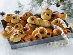Lussekatter All Things Christmas, Scones, Dessert, Recipe, Board, Deserts, Postres, Recipes, Desserts