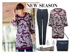 """""""New Season: Leaf Print Tunic"""" by mandco-fashion ❤ liked on Polyvore featuring M&Co"""
