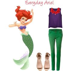 Everyday Ariel by yviestyle on Polyvore featuring polyvore fashion style H&M Kenneth Jay Lane