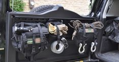 MPAC HD rear door rack with MOLLE bags cargo barrier with quickfist mounts and quick release knobs | Lada niva viva | Pinterest | Bags, Search and Locks