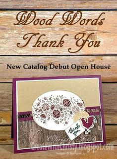 Free, complete instructions for this card are included in the post - Stampin' Up! Wood Words handmade card - Create With Christy - Christy Fulk, Independent SU! Demo