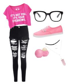 """""""Untitled #2"""" by elbisa-sa ❤ liked on Polyvore featuring мода, Glamorous, Eos, Forever 21 и Vans"""