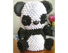 Cute 3D Origami Panda