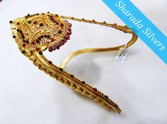 Sharada silver shop : Nakas silver Daabu (Waist band) with gold polish. Product code: SSS/SEPT15/03