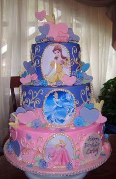 Children's Birthday Cakes - Disney Princesses Cake