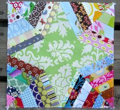 Spider Web Quilt Block. Love the green for the star!