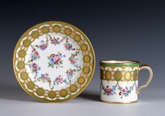 Sèvres gobelet 'litron' and saucer of the second size 1780