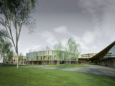 Unique and Healthy Hospital Building Design by K2S Architects