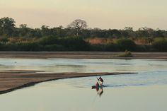 Try canoeing across the Lugenda River