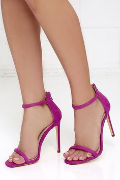 Sexy Purple Heels - Vegan Suede Heels - Single Sole Heels - $28.00