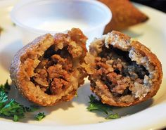 Egyptian food: Opened kibbeh (Photo: Cassaendra, Sittoo's, Parma, OH      http://www.latinabroad.com/2011/10/24/traveling-through-egyptian-food-photo-essay/