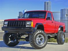 """Our 87 Project """"Prime"""" - Your Project Jeep Suv, Jeep Pickup, Jeep Cars, Jeep Truck, Jeep Garage, Comanche Jeep, Super Pictures, Red Jeep, Jeep Cherokee Xj"""