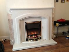 Marble fireplace I installed with and dimplex electric fire
