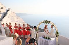 Unique wedding ceremonies in Santorini organised by Travel Zone Greece wedding planners #santorini #weddings