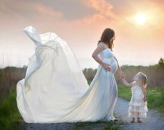 Rachel Gown / Chiffon Maternity Gown / by SewTrendyAccessories