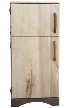 For the play kitchen at school - Camden Rose A Simple Fridge (Child's Curly Maple Wood Play Refrigerator)