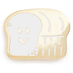 Women's Big Bud Press 'Bread Buddy' Pin (980 RUB) ❤ liked on Polyvore featuring jewelry, brooches, accessories, gold bread buddy, pin jewelry and pin brooch