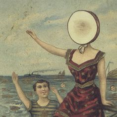 A great poster of art from the album cover of the classic LP by Jeff Mangum and Neutral Milk Hotel - In the Aeroplane Over the Sea! Need Poster Mounts. Neutral Milk Hotel, Cd Cover, Album Covers, Cover Art, Music Covers, Vinyl Cover, Book Covers, Baby One More Time, Time 100