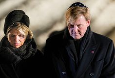 ♥•✿•QueenMaxima•✿•♥...King Willem Alexander and Queen Maxima at Auschwitz 70th Anniversary. January 27, 2015