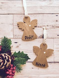 A personal favourite from my Etsy shop https://www.etsy.com/uk/listing/464322924/personalised-christmas-baubleangel
