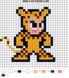 Cheetah 8-Bit Super Friends Perler Bead Pattern