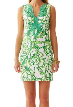 Lilly Pulitzer Janice Knit Shift Dress in Resort White Heart Breakers