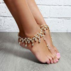 Anja Gold Barefoot Sandals