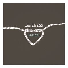 Tying the Knot Wedding Save the Date Invites