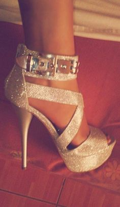 Gold Sparkle High Heels